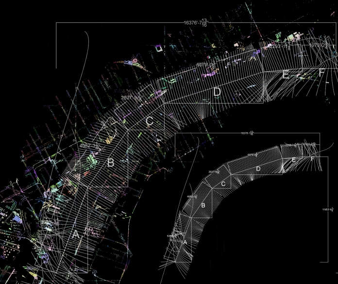 1000 Pedestrian Walkways, Broken City Lab, rendering by Tom Provost, 2011