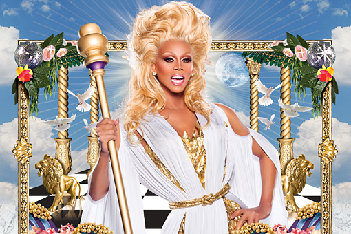 Advertisement for RuPaul's Drag Race, Logo, 2012