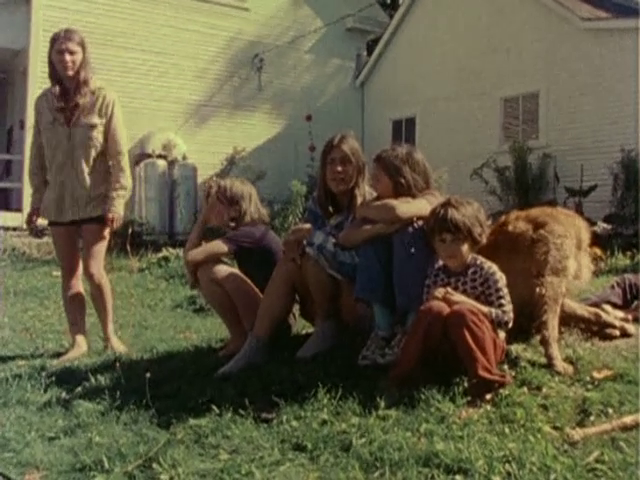 The Pincuses and some (unidentified) friends in Vermont, where the Pincuses settled in the mid-70s. Diaries (1971-1976) (200 min. color, sound), 1982. Video Still.