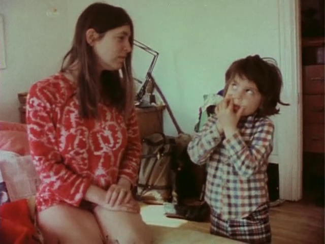 Jane Pincus looks on as Ben tells her he is sick. Diaries (1971-1976) (200 min. color, sound), 1982. Video Still.