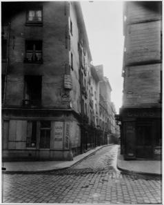Eugène Atget, Rue Laplace and Rue Valette, Paris, 1926