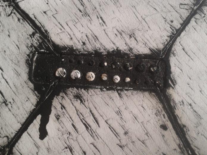 Fig. 3: Amanda Ryder, Untitled (1975).  Detail, aquatint and open bite.